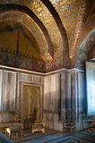 King Roger II Reception Room, 12th C Norman Palace, Palermo. A spectacular example of the so-called Arab-Norman-Byzantine style that prevailed in the 12th Royalty Free Stock Images