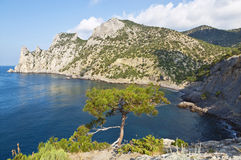 Kings beach and mount Karaul-Oba, Russia Stock Photography