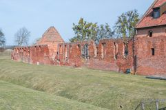 King`s Camp west side in castle in Malbork, Poland. royalty free stock photo