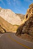 King's Canyon Road. Winding road through King's Canyon, California Royalty Free Stock Photos