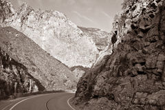 King's Canyon Road royalty free stock photography