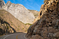 King's Canyon Road. Winding road through King's Canyon, California Royalty Free Stock Images
