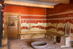 King's chamber of Knossos. King's chamber of legendary Knossos palace, Crete, Greece Stock Image