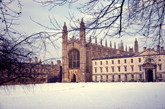 King's College, Cambridge in winter Royalty Free Stock Image
