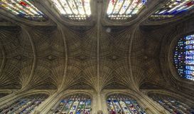 King`s College ceiling, Cambridge royalty free stock image