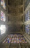 King`s College ceiling, Cambridge royalty free stock photo