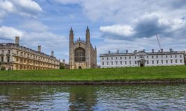 King`s College and King`s College Chapel, late Perpendicular Gothic English architecture, Cambridge, England. UK Royalty Free Stock Photos