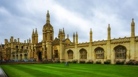 King's College gate and fence, Cambridge, UK Stock Photo