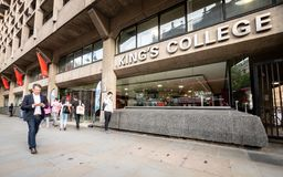 King`s College London Strand Building entrance royalty free stock images