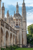 King's college pictured on May 23, 2013 in Cambridge, England. Royalty Free Stock Image