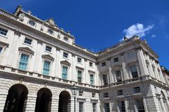 King's College. Somerset House - landmark building in London, UK. Currently part of King's College Stock Images