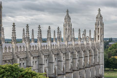 King's college spires and buttresses Royalty Free Stock Photo