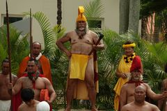 King`s Court at the King Kamehameha Day Floral Parade of Kauai stock images