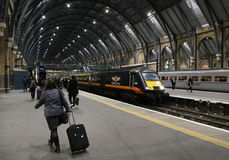 King's Cross station in London Stock Image