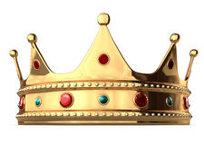 King's Crown. A king's golden crown on a white background. Includes Clipping Path Stock Photo