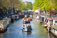 King's day in Amsterdam Royalty Free Stock Photo