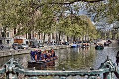 King`s Day on the Canals Royalty Free Stock Photography