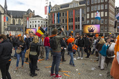 King's day celebrations Royalty Free Stock Image