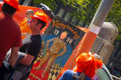 King's day festivities Royalty Free Stock Photo