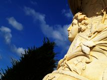 King's face. Statue in a park Royalty Free Stock Photo