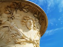 King's face. Statue of child king Louis XIV Stock Photos