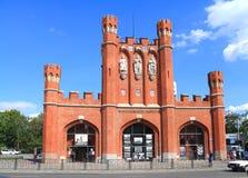 King's Gates in Kaliningrad in the summer. KALININGRAD, RUSSIA — AUGUST 13, 2014: King's Gates in Kaliningrad in the summer in August Royalty Free Stock Photos