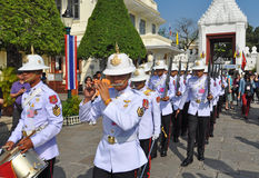 The King's Guards and Marching Band, Bangkok Stock Photo