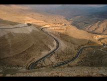 King& x27;s Highway 35 - Jordan. Highway 35, also known as the King& x27;s Highway, is a north–south highway in Jordan. It starts in at the Syrian border north Stock Image