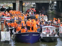 Kings holiday in Amsterdam, Holland Royalty Free Stock Photography