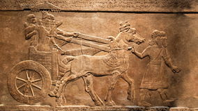 King's hunt. Animated, moving effect of relief from Palace of Assurbanipal, Assyria stock footage