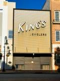 King`s Jewelers on Main Street in Columbia, South Carolina.  royalty free stock image