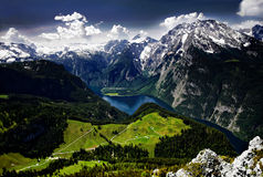 King`s Lake, Königssee, Bavaria. Stock Images