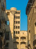 King`s Martin Watchtower in King Square. Gothic Quarter in Barce Royalty Free Stock Image