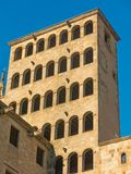 King`s Martin Watchtower in King Square. Gothic Quarter in Barce Stock Photo