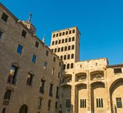 King`s Martin Watchtower in King Square. Gothic Quarter in Barce Royalty Free Stock Images