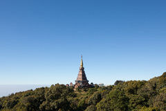 King's pagoda on mountain Stock Photos