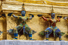 King's Palace Demon Guardians Royalty Free Stock Photography