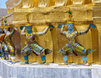 King's Palace Demon Guardians Royalty Free Stock Images