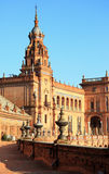 King`s Palace on Spain`s Square Royalty Free Stock Photo