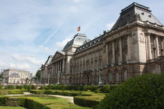 King's residence. The royal palace of the Belgian family in Brussels, Belgium Stock Photography