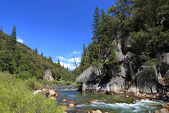 King's river. Kings river in King's canyon national forest Stock Photo