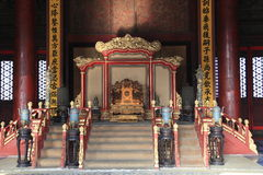 King's throne of Beijing Forbidden city palace Royalty Free Stock Photography