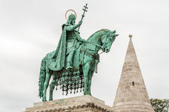 King Saint Stephen statue at Matthias Church Stock Image