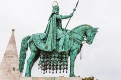 King Saint Stephen statue at Matthias Church Royalty Free Stock Images