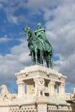 King Saint Stephens modern sculpture in Budapest Stock Images