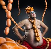 King of sausages Royalty Free Stock Images