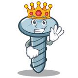 King screw character cartoon style. Vector illustration Royalty Free Stock Photography