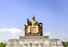 King Sejon the Great statue royalty free stock photos