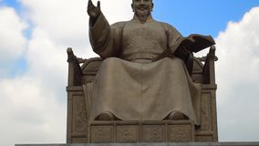 King Sejong Monument at Gwanghwamun Square in Seoul, South Korea