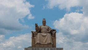 King Sejong Monument at Gwanghwamun Square in Seoul, South Korea